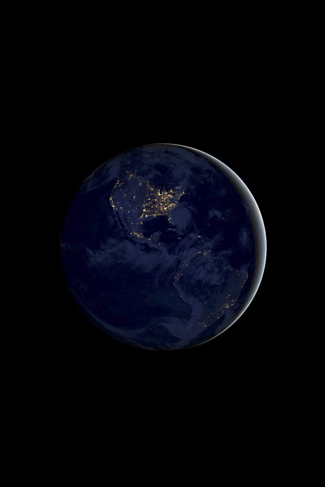 Earth Night Android wallpaper