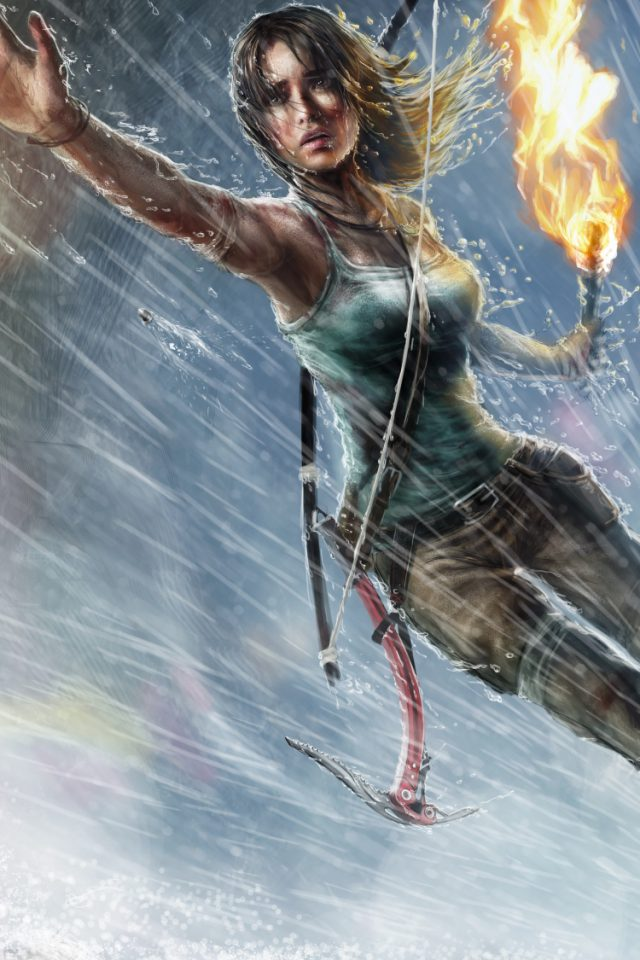 Lara Croft Tomb Raider Android wallpaper