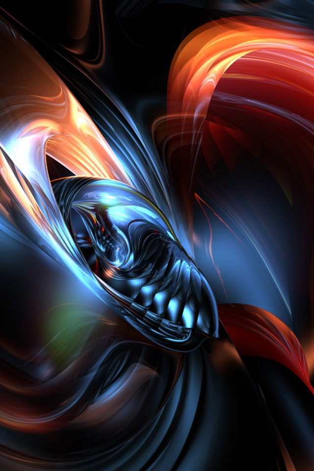 Abstract 3D Lights Android wallpaper