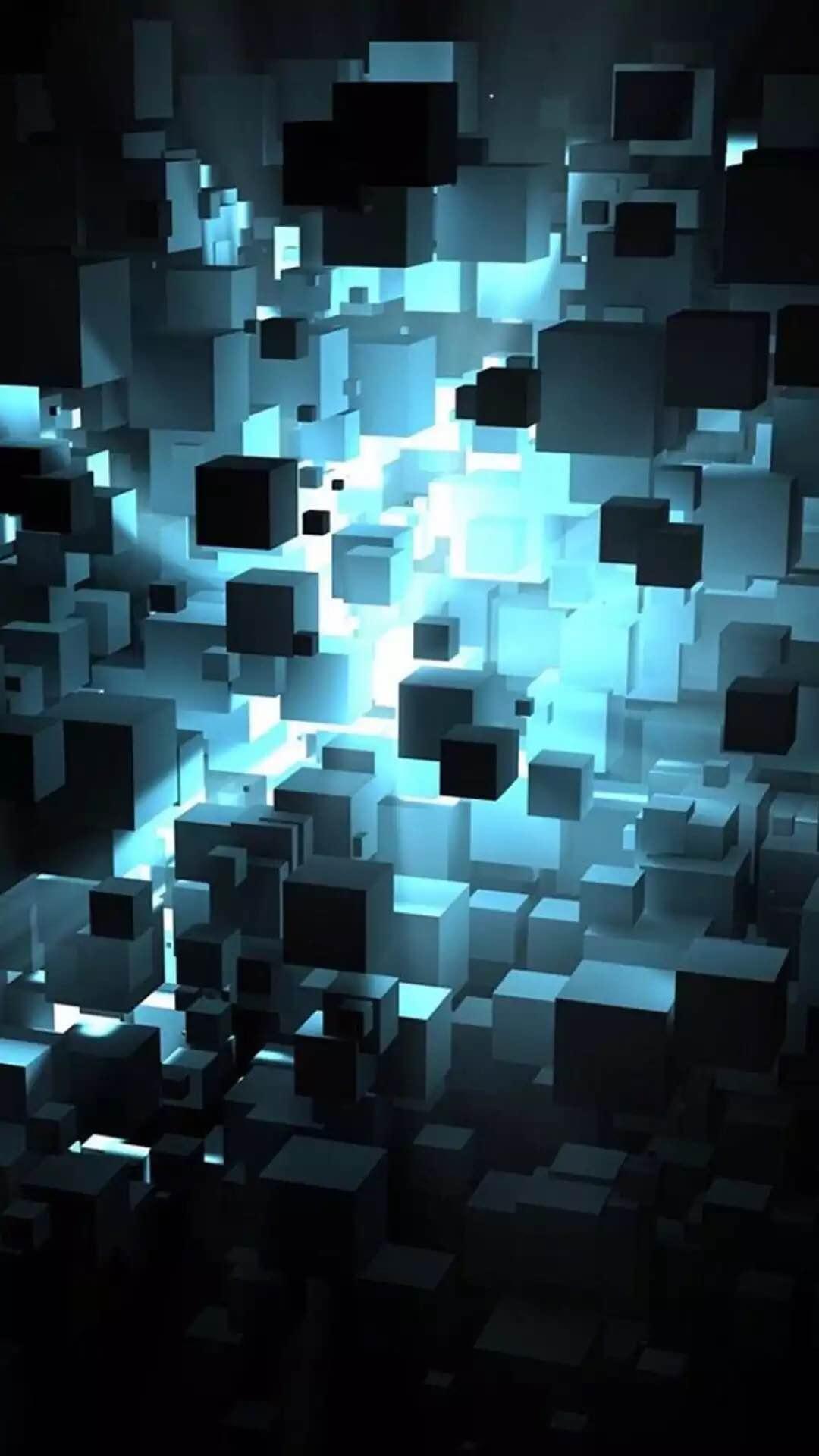 Abstract Blocks Android Wallpaper