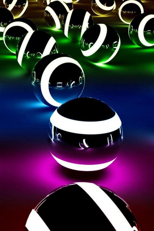 Abstract Colors Balls Android wallpaper