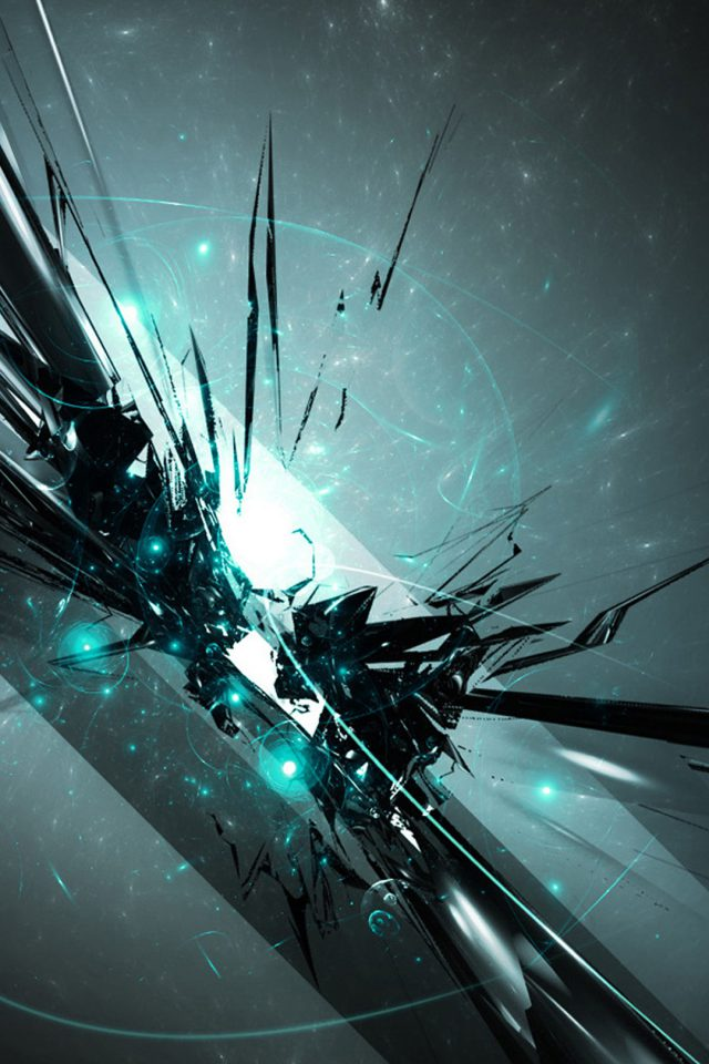 Abstract Cyan Android wallpaper