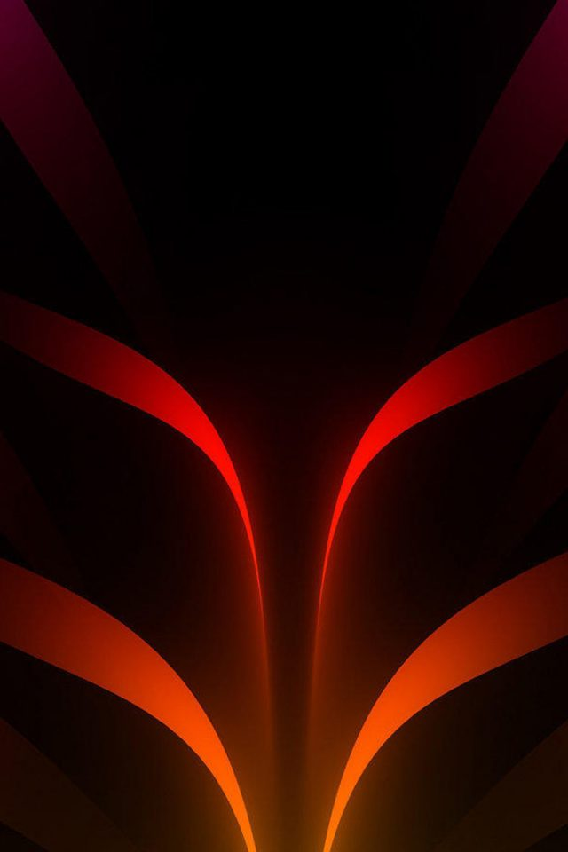 Abstract Orange Art Android wallpaper