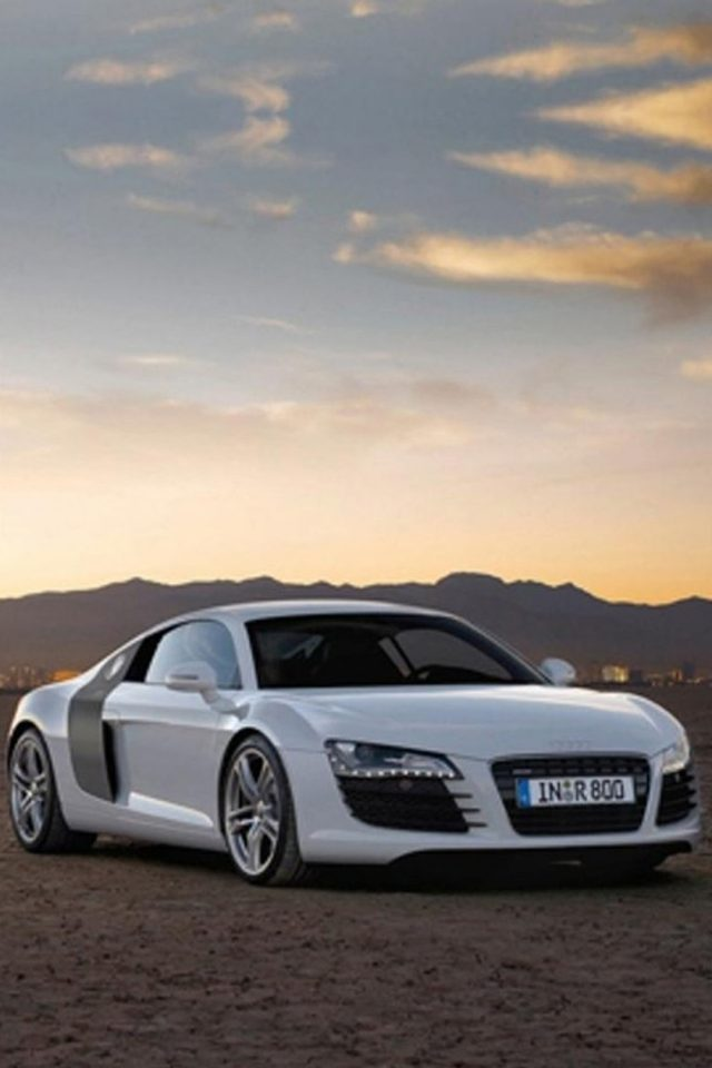Audi R8 Sunset Android wallpaper