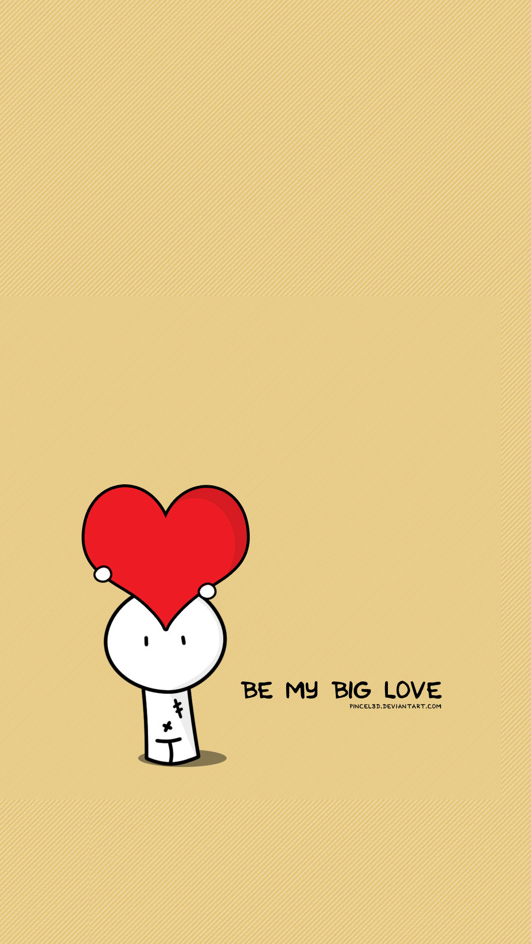 Most Inspiring Cartoon Love HD Wallpaper For Android - Be-My-Big-Love-Valentines-Illustration  Best Photo Reference_358121.jpg