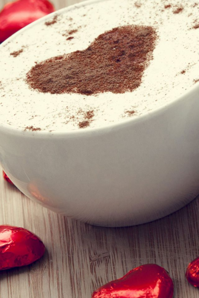 Cappucino Love Android wallpaper