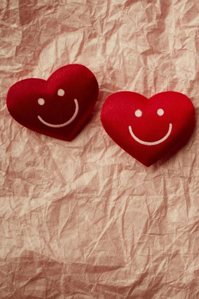 Cute Smile Love Heart Couple Fold Paper Android wallpaper