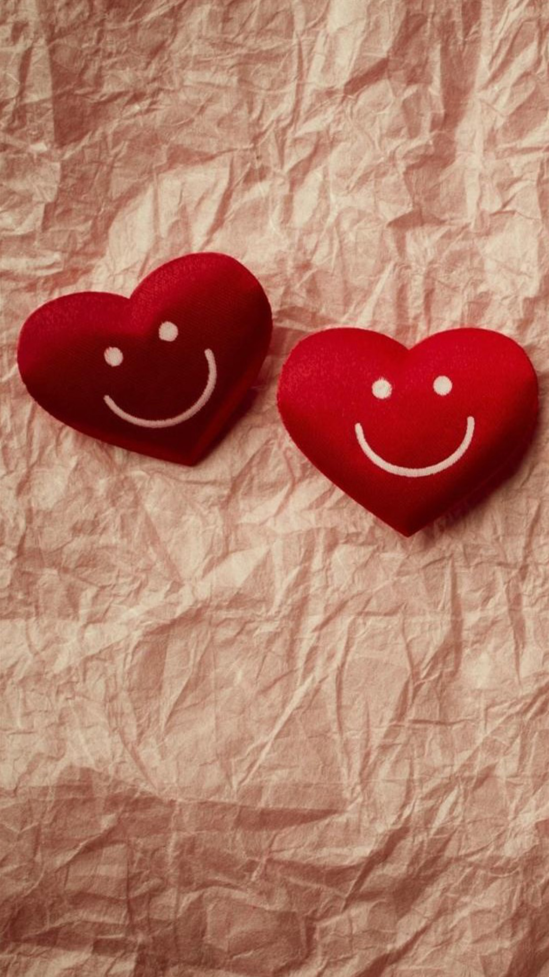 cute smile love heart couple fold paper android wallpaper - android