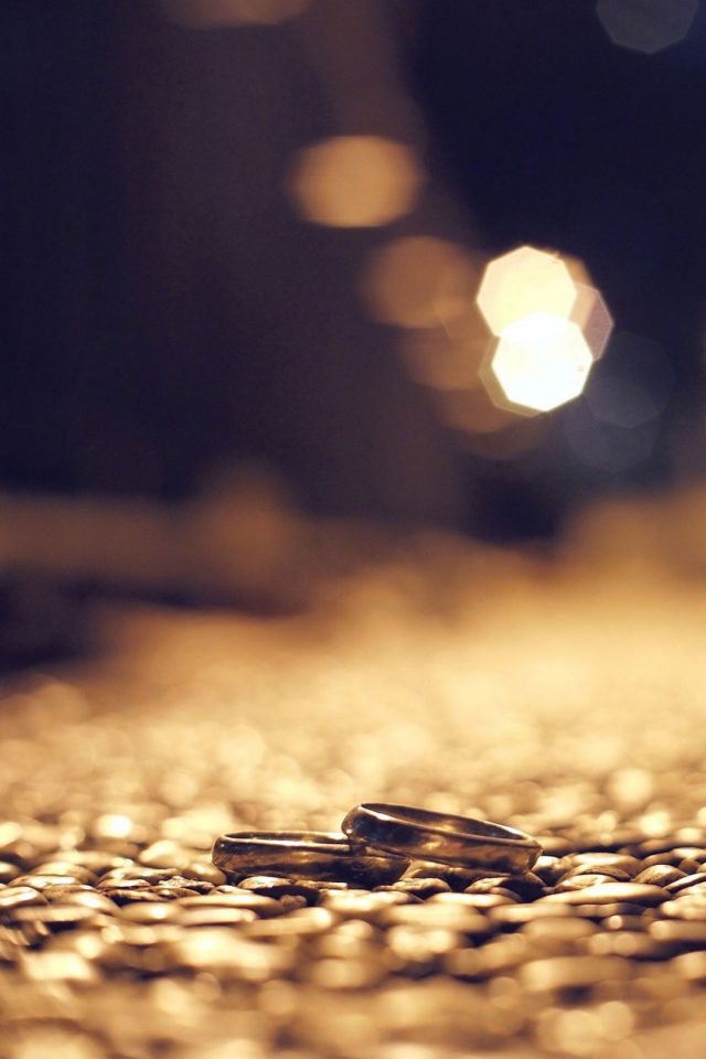 Dusky street Rings bokeh Night Love Android wallpaper