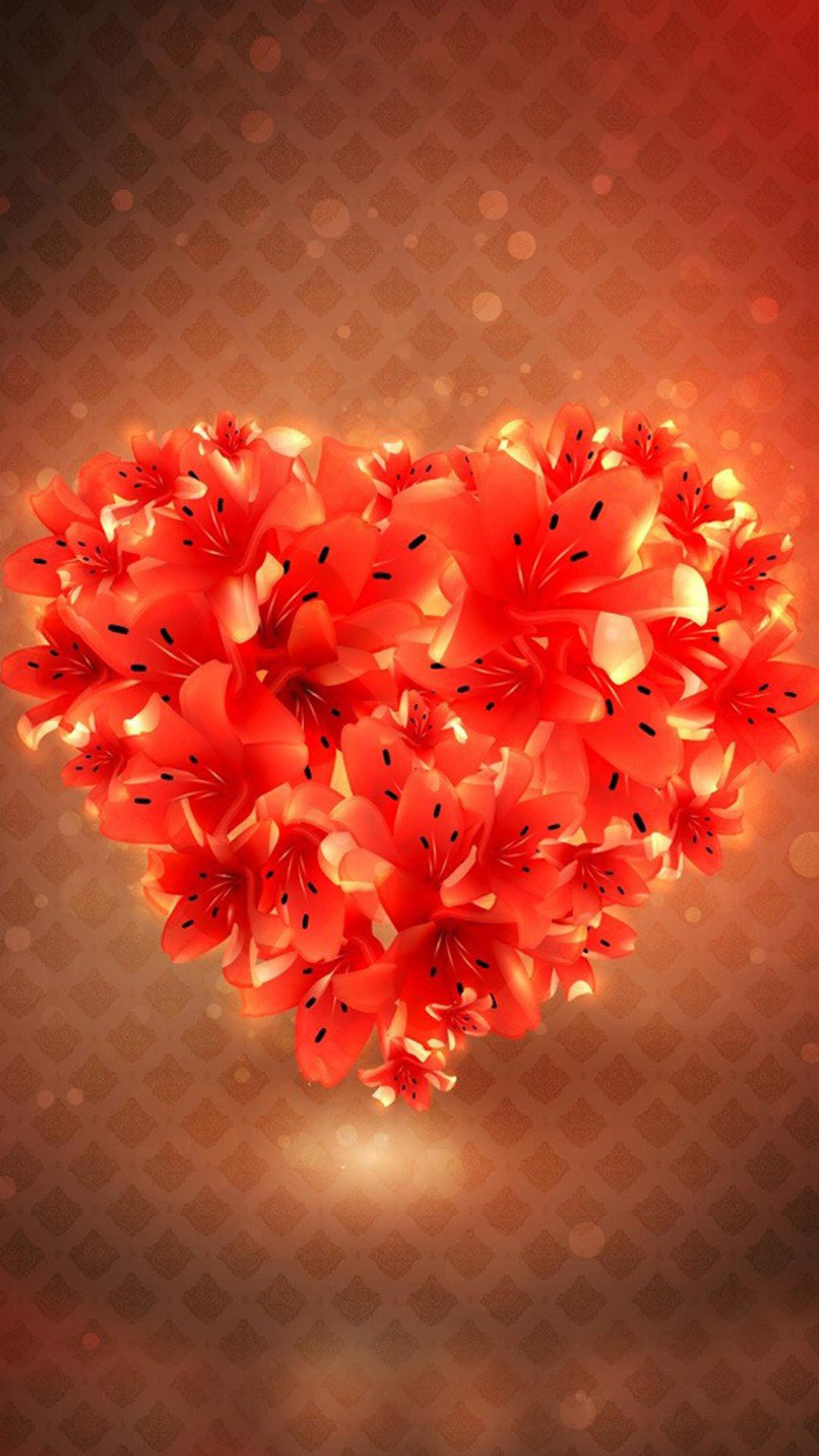 flower love heart