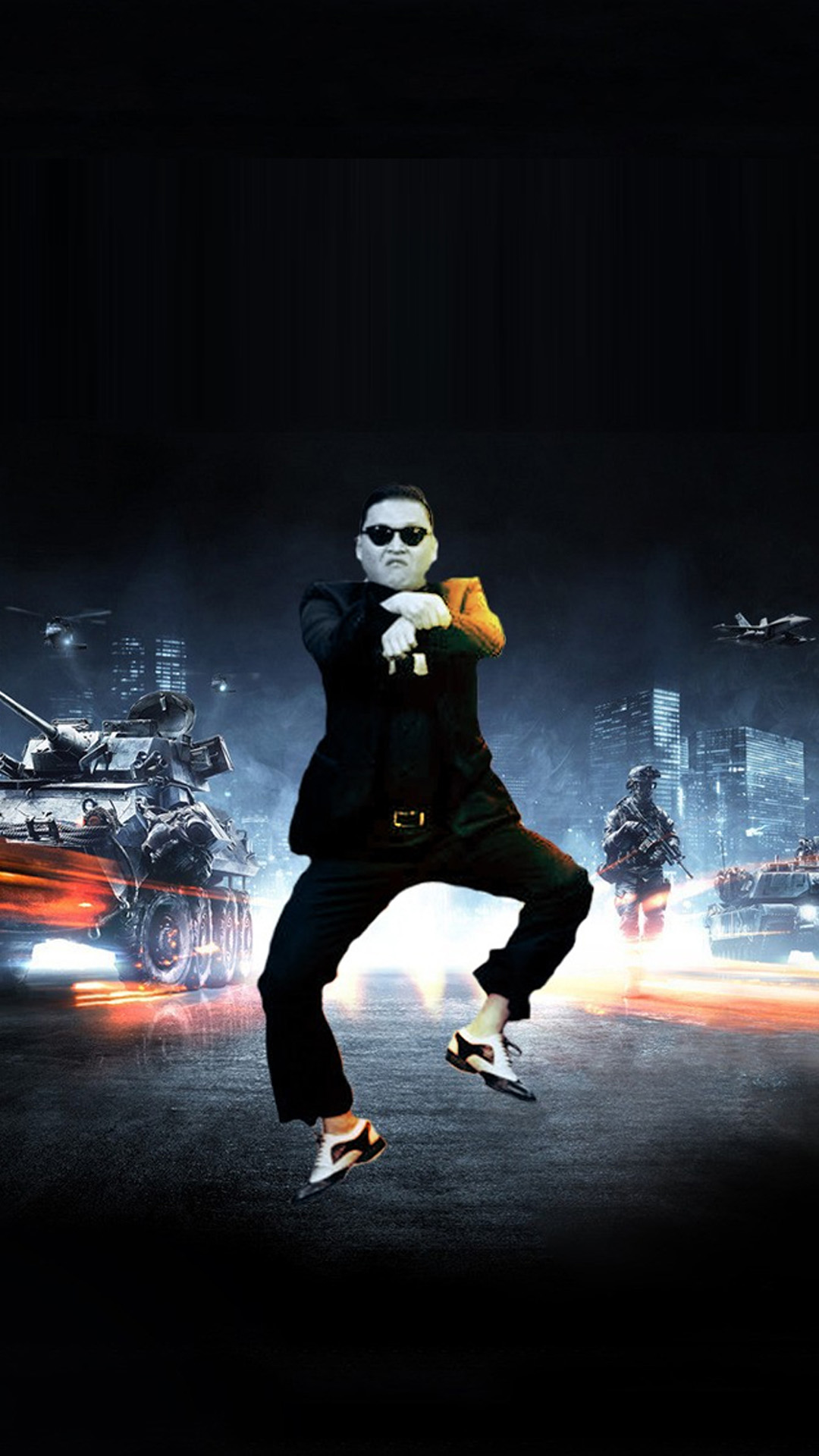 Funny Gangnam Style Android wallpaper