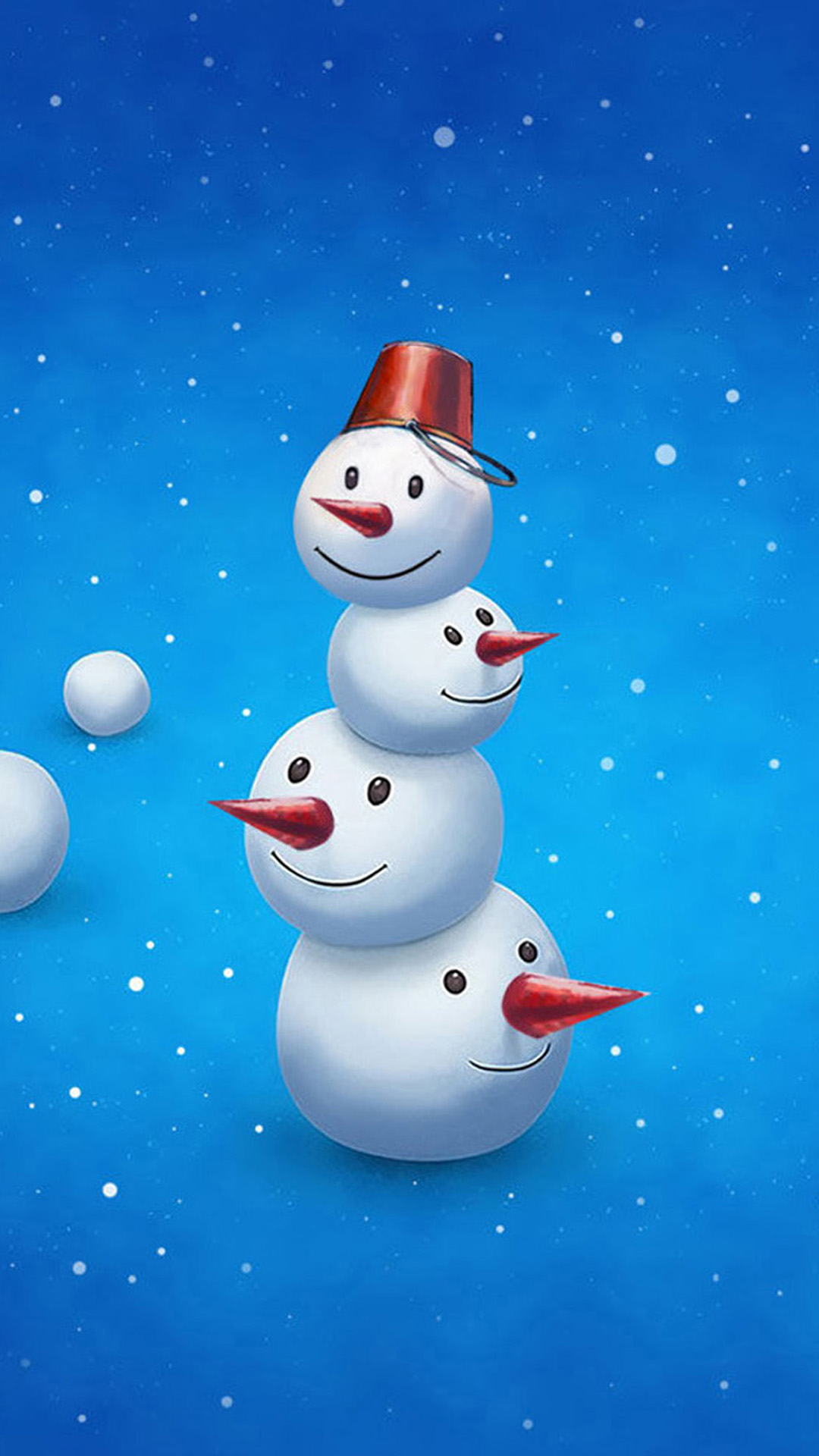 Funny Snowman Android wallpaper