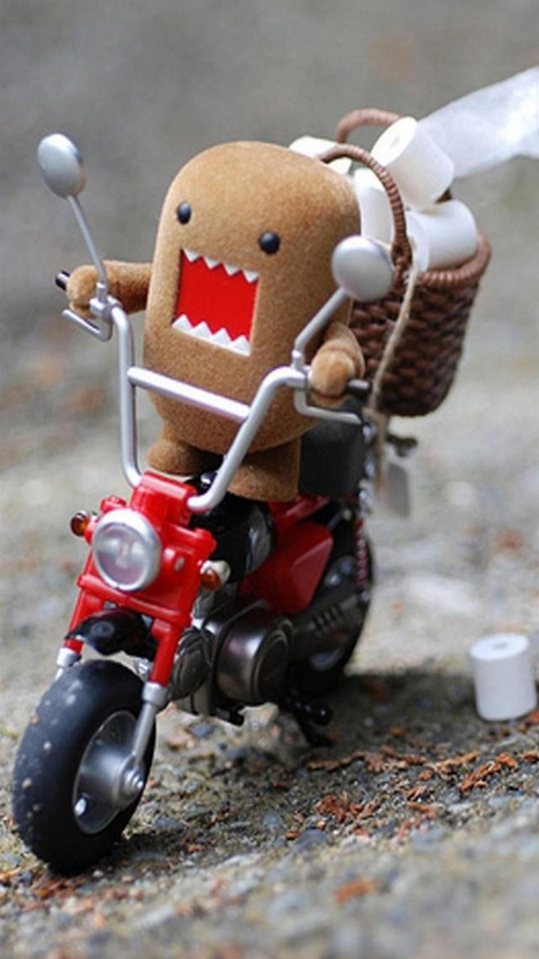 Domo Kun on Scooter Android wallpaper