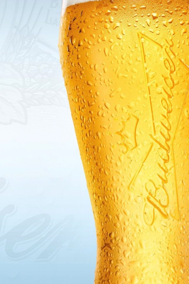 Beer Glass Yellow Closeup Android wallpaper