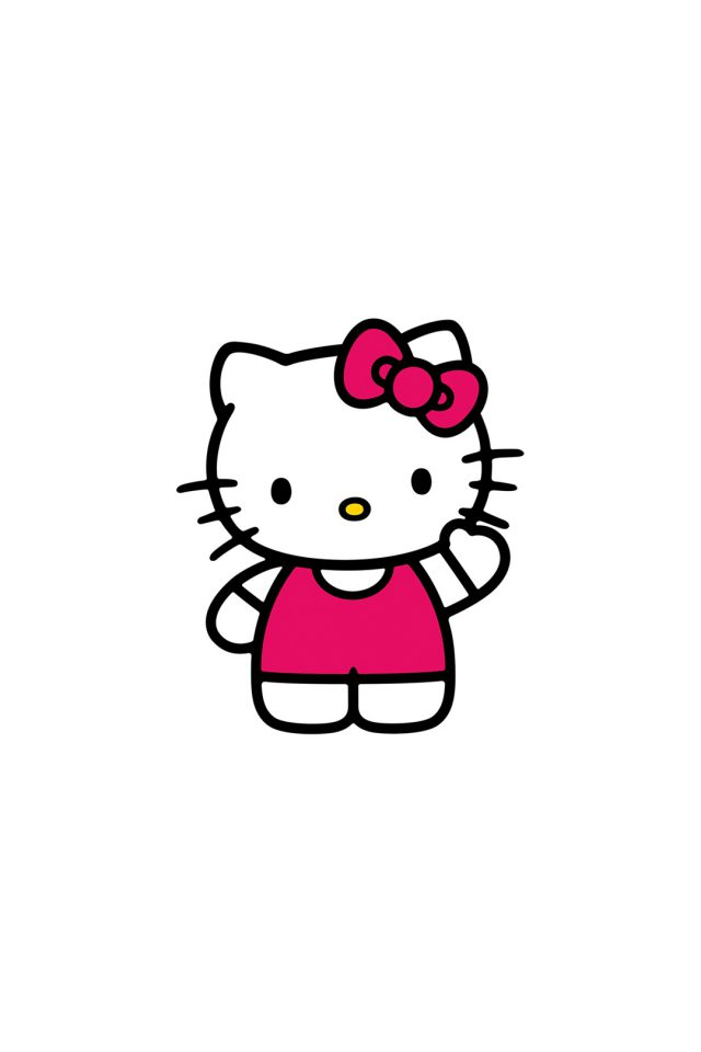 Hello Kitty Art Cute Logo Minimal Android wallpaper