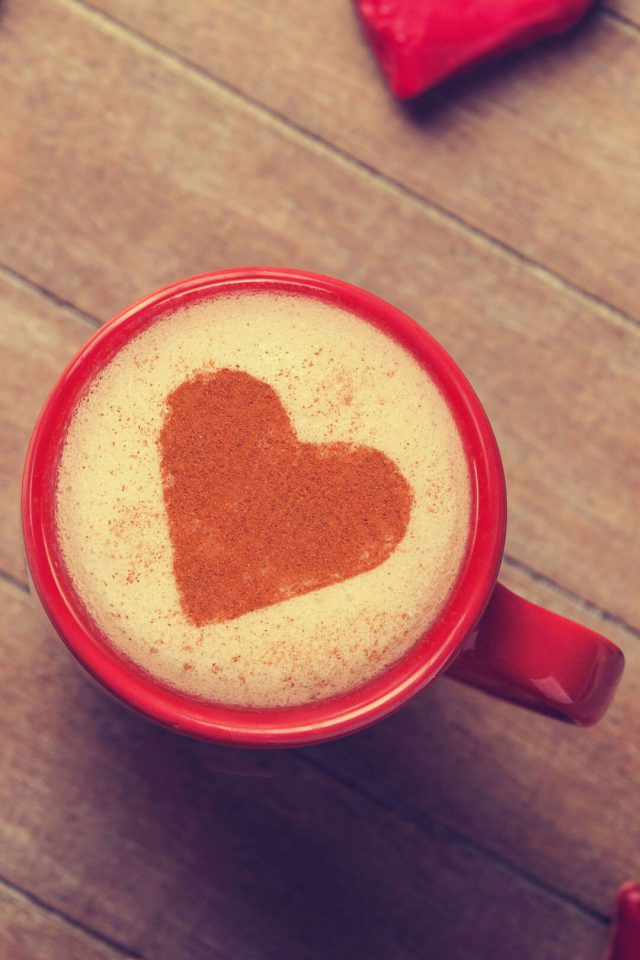 Love Coffee Red Android wallpaper