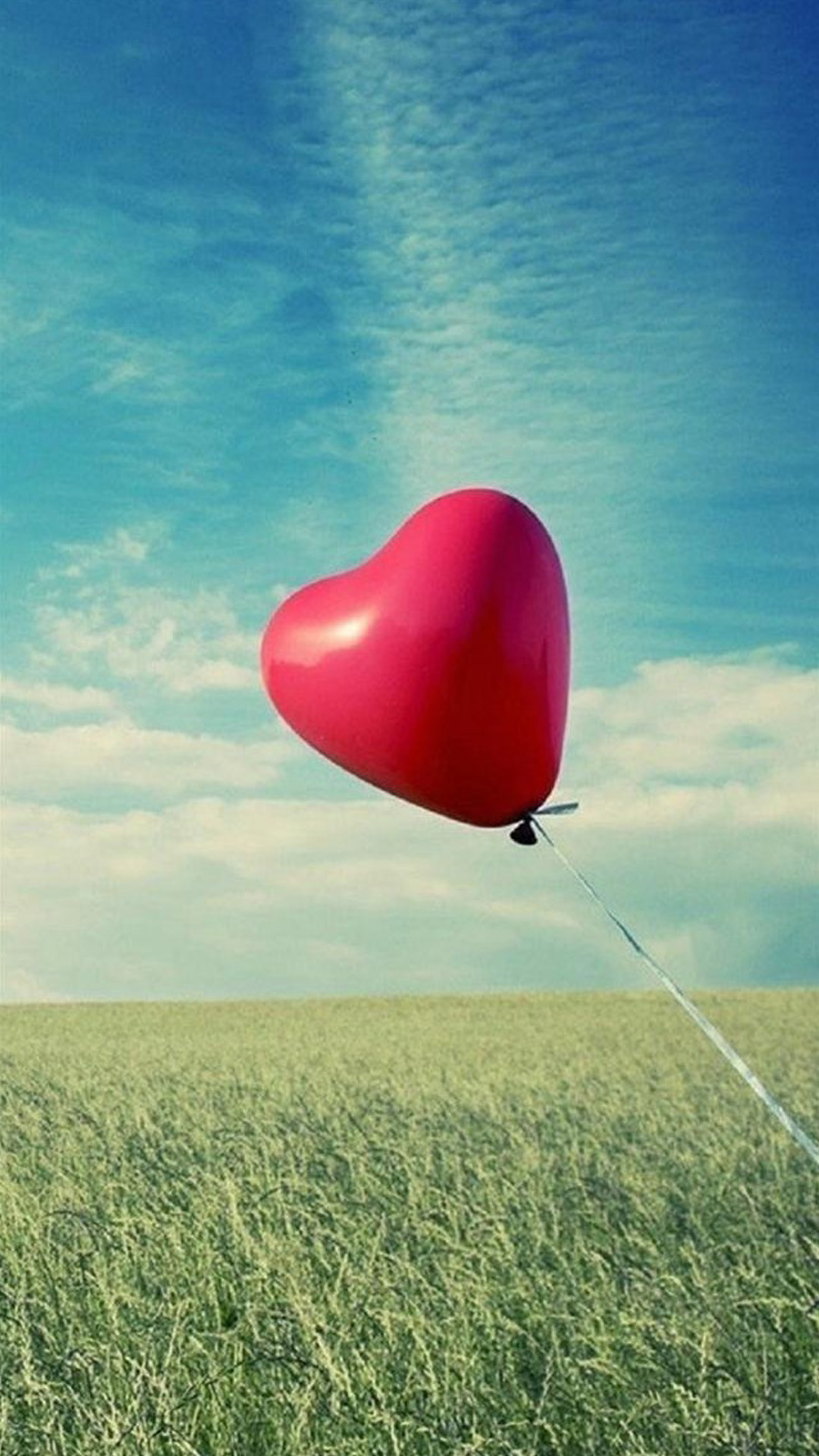 Love Heart Balloon Android wallpaper