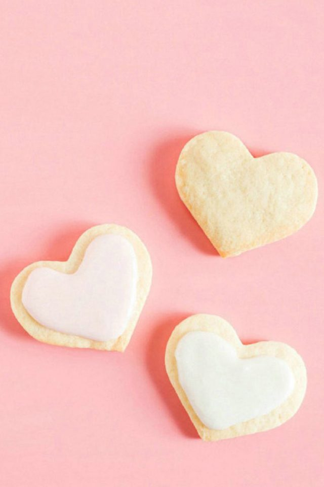 Love Hearts Cookies Android wallpaper