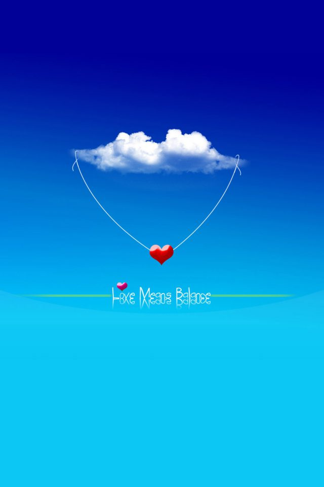Love Means Balance Android wallpaper