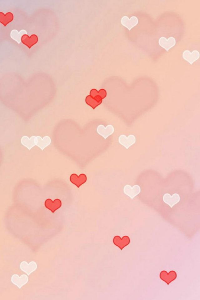 Love hearts Android wallpaper