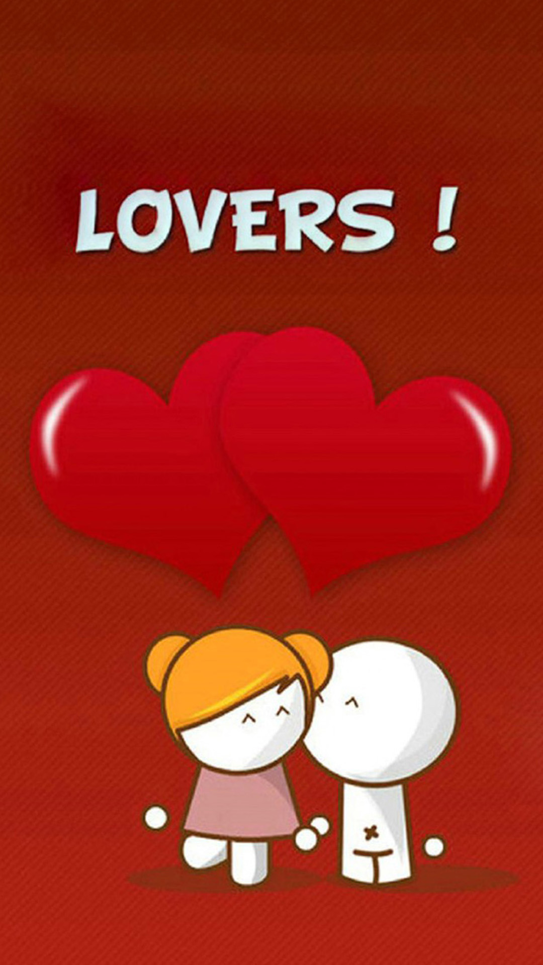 Simple Cartoon Love HD Wallpaper For Android - Lovers  HD_4590100.jpg