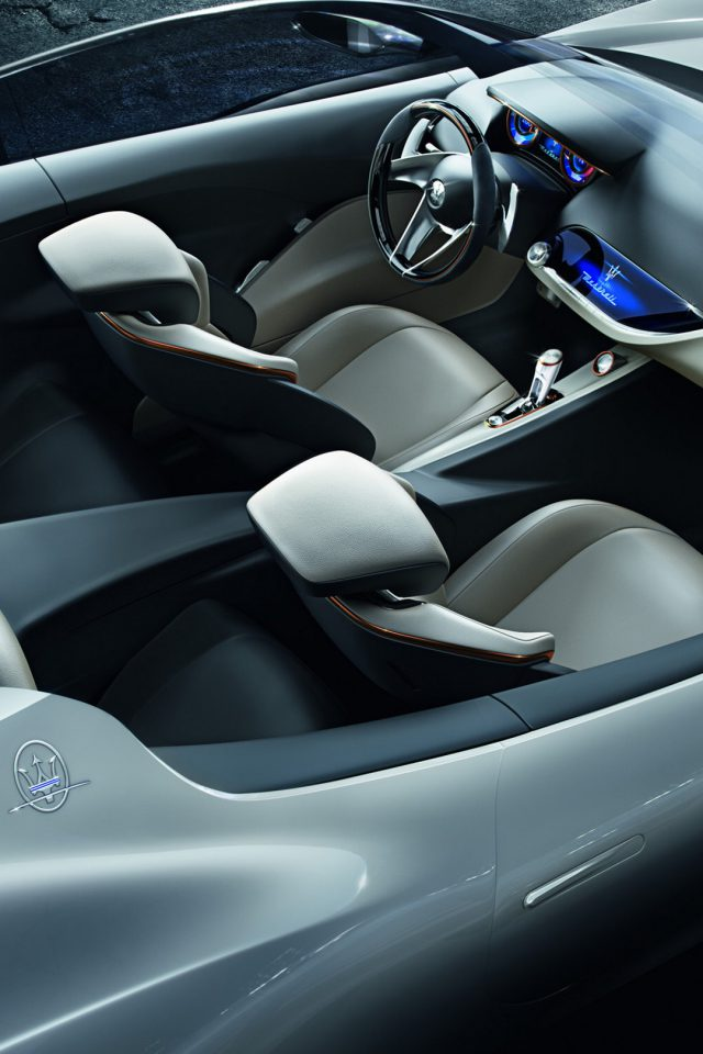 Maserati Concept Car Interior Android wallpaper
