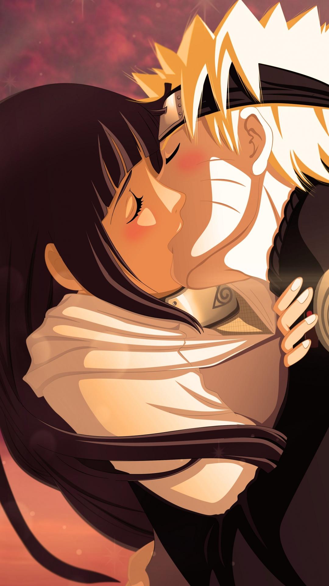 naruto uzumaki naruto hyuuga hinata girl boy kiss android wallpaper android hd wallpapers