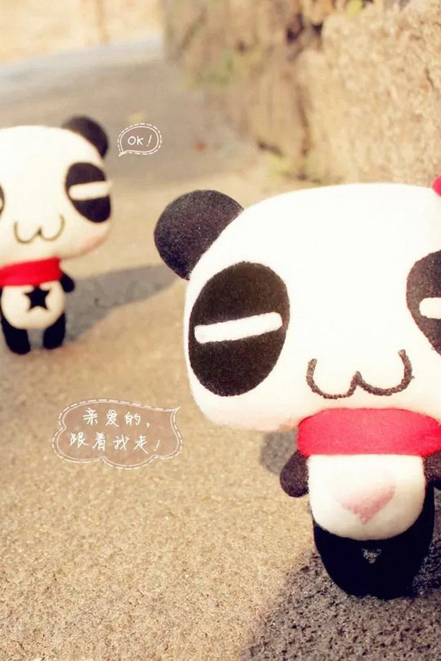 Panda Love Japan Android wallpaper