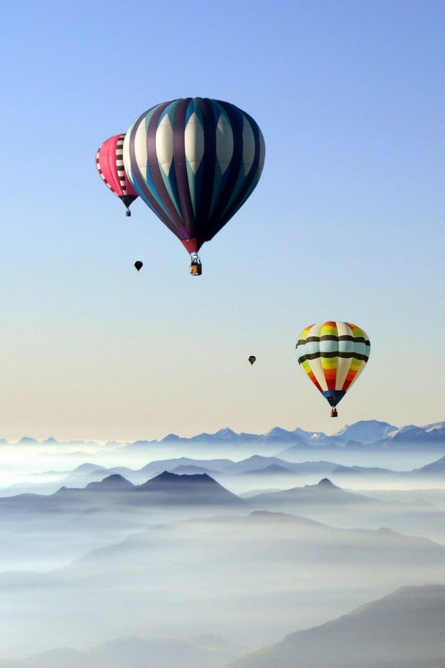 Rare Scenic Hot Air Balloon Android wallpaper