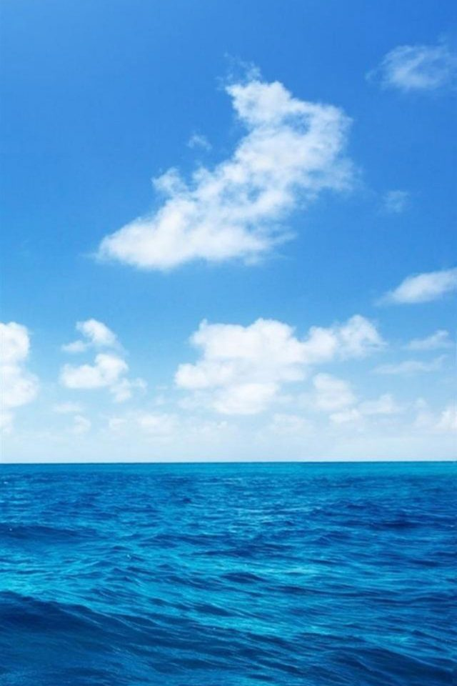 Sea And Great Sky Android wallpaper