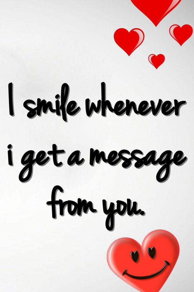 Smile Love Message Android wallpaper