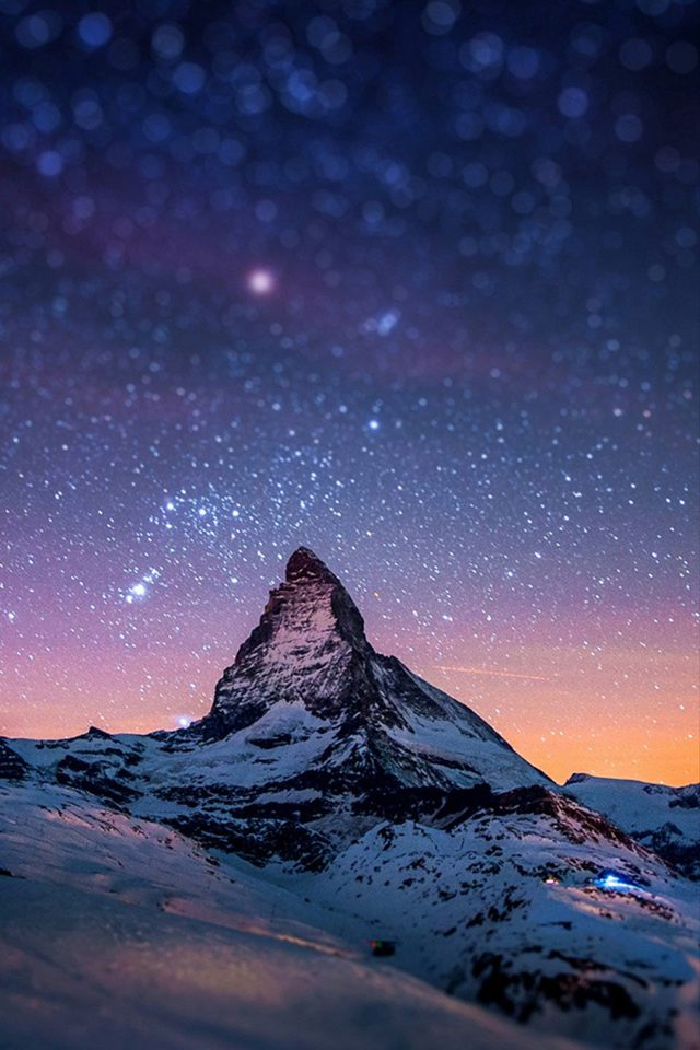 Nightsky Mountain Android wallpaper