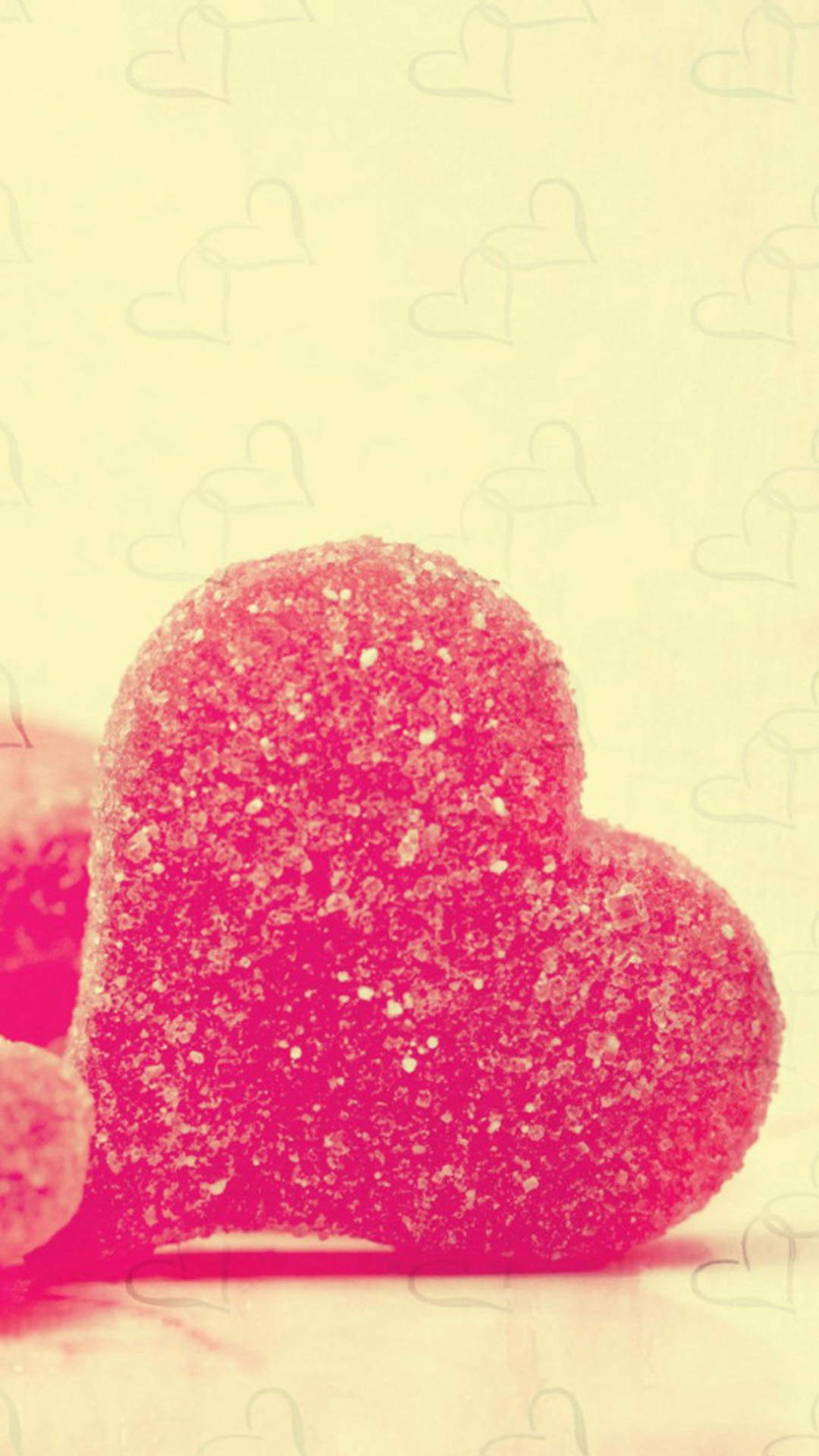 Sweet Heart Candy Android wallpaper