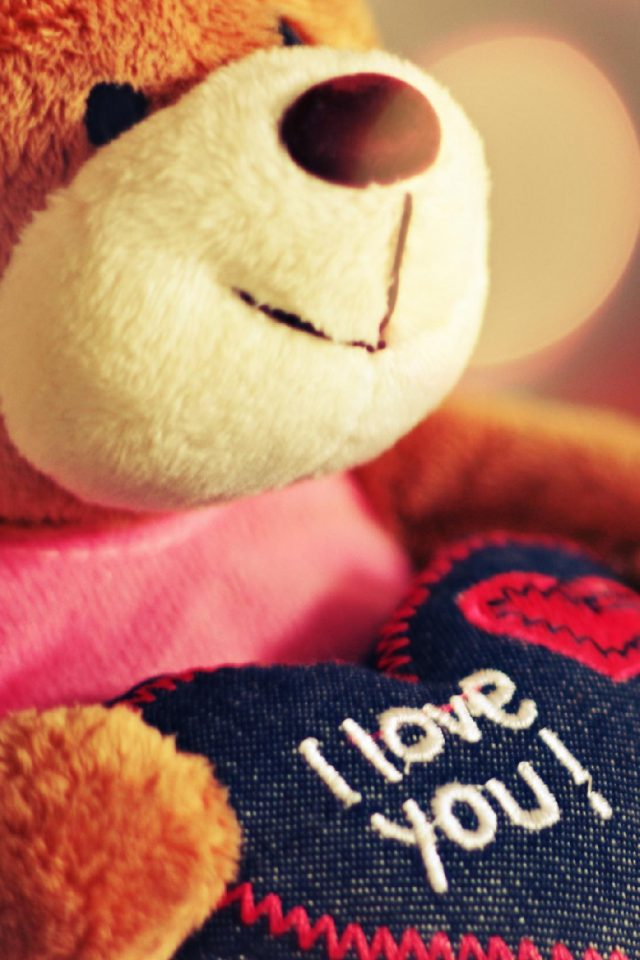 Teddy Love Android wallpaper