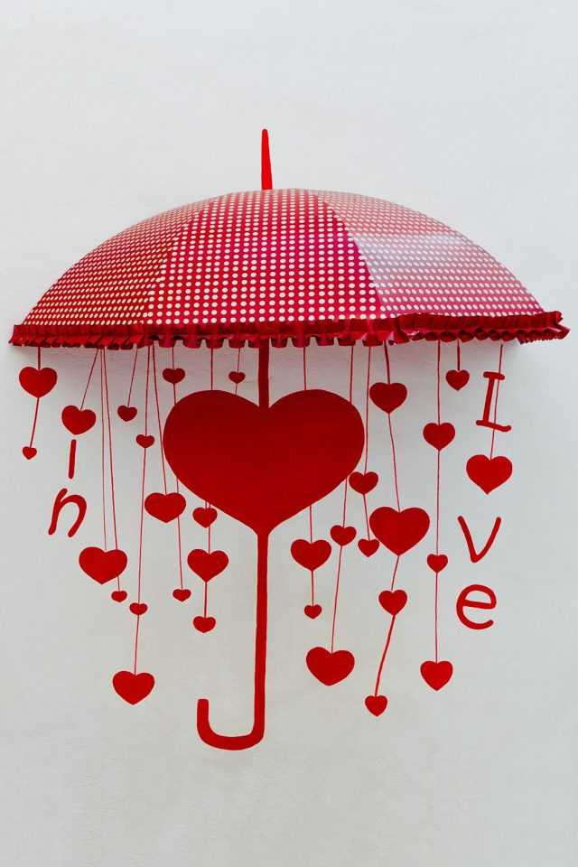 Umbrella of Love Android wallpaper