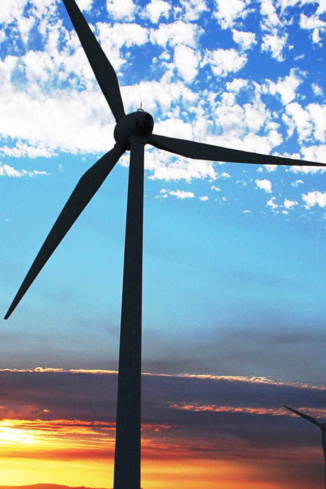 Wind Turbine Sky Android wallpaper