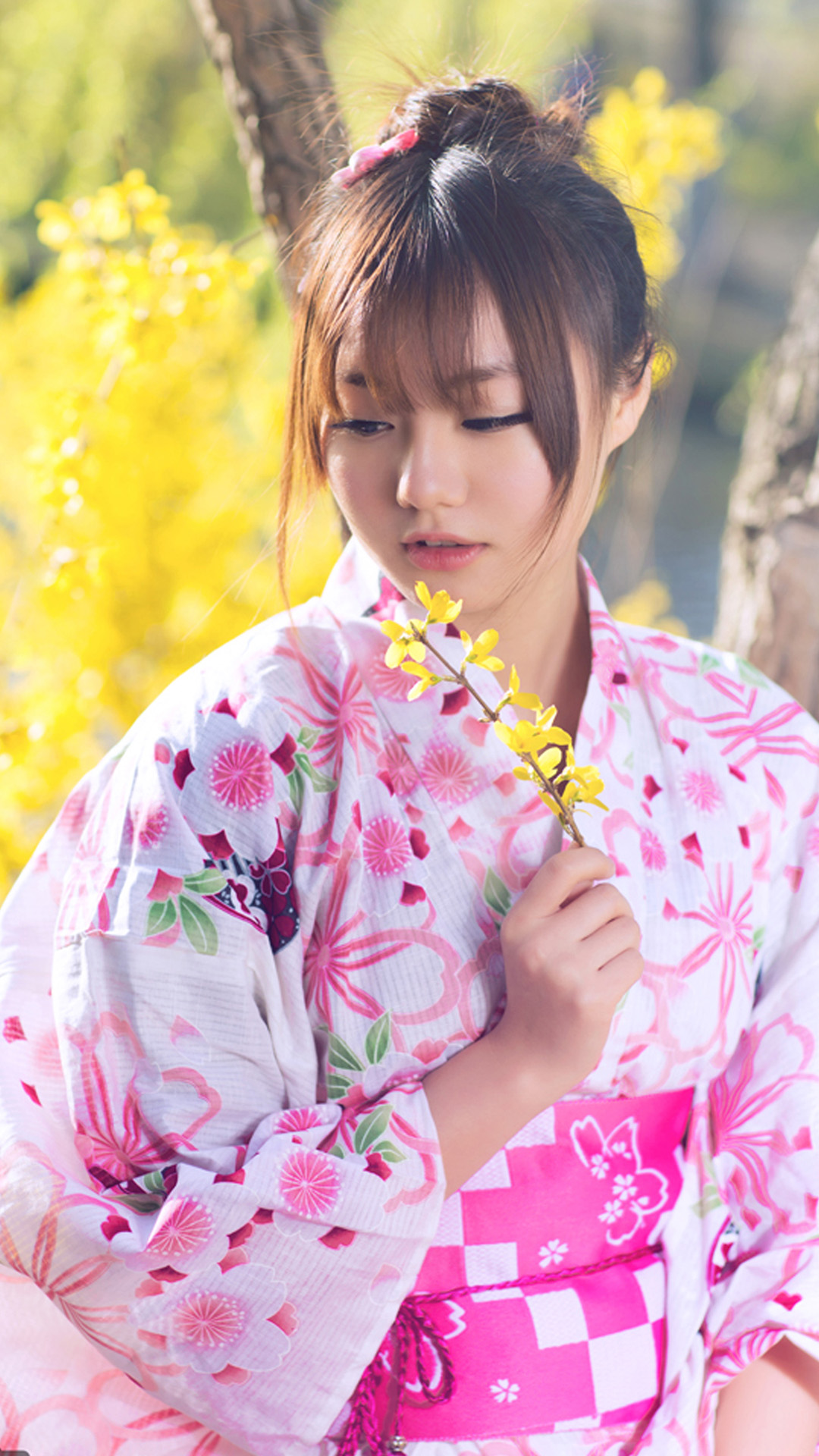 Cute Japanese Girl Android Wallpaper