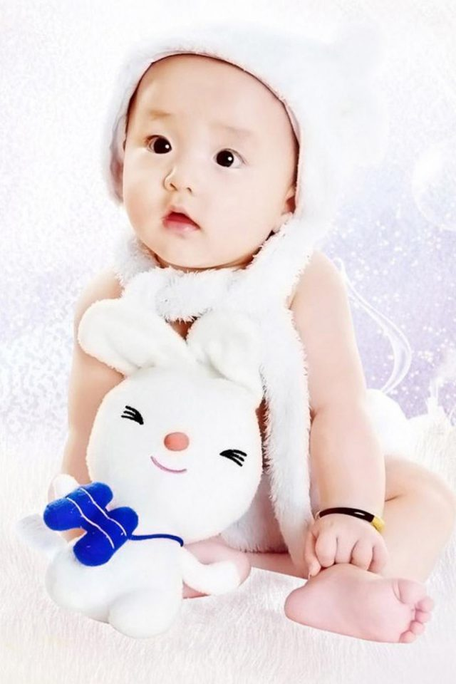 Cute Baby Asian Android wallpaper