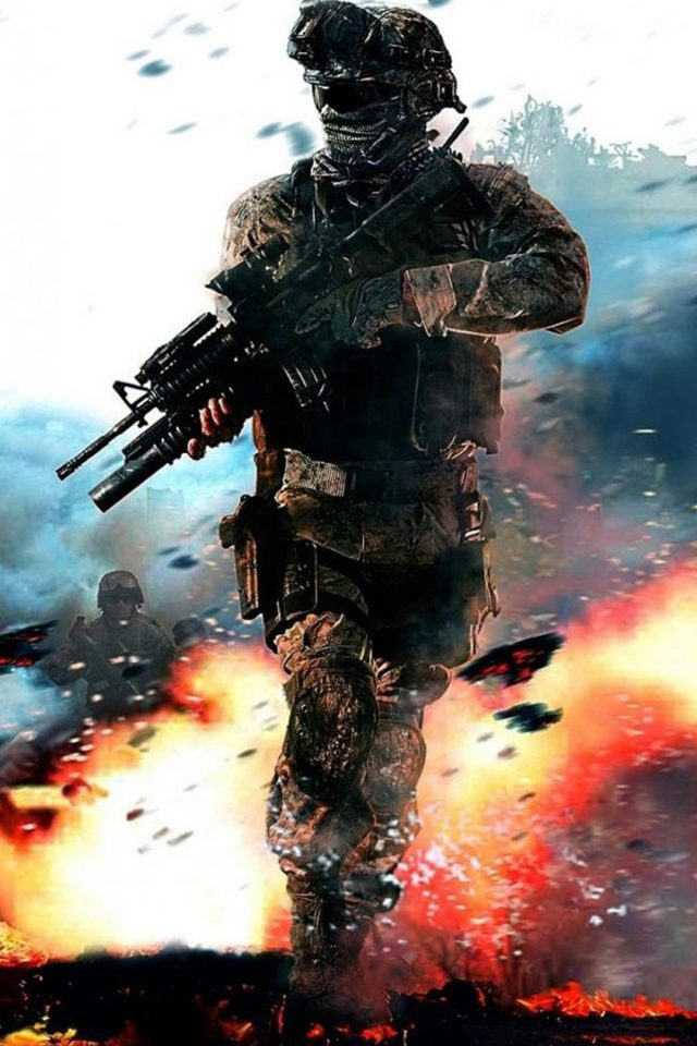 Call of Duty Fire Blur Android wallpaper