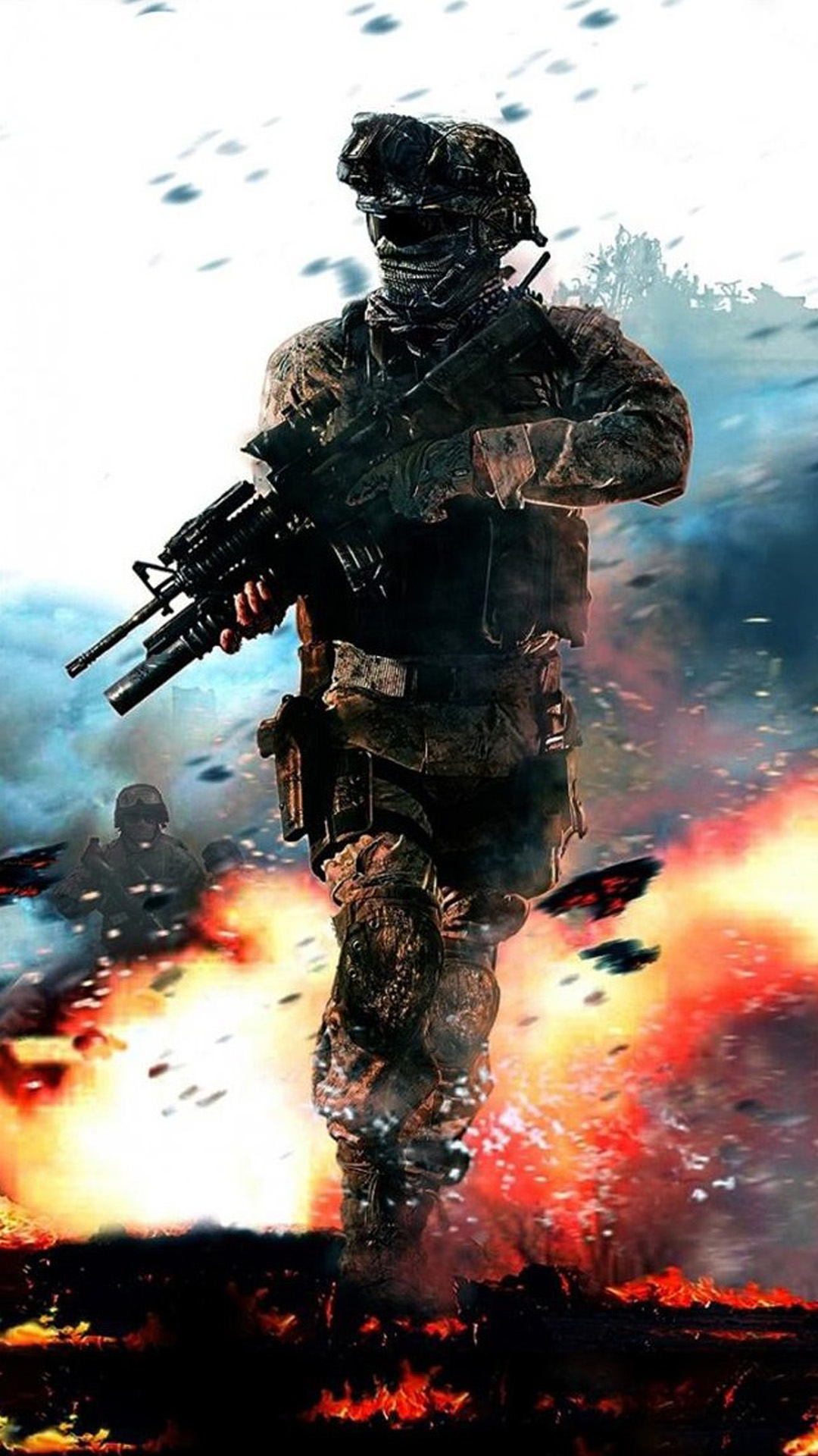 Call Of Duty Fire Blur Android Wallpaper Android Hd Wallpapers