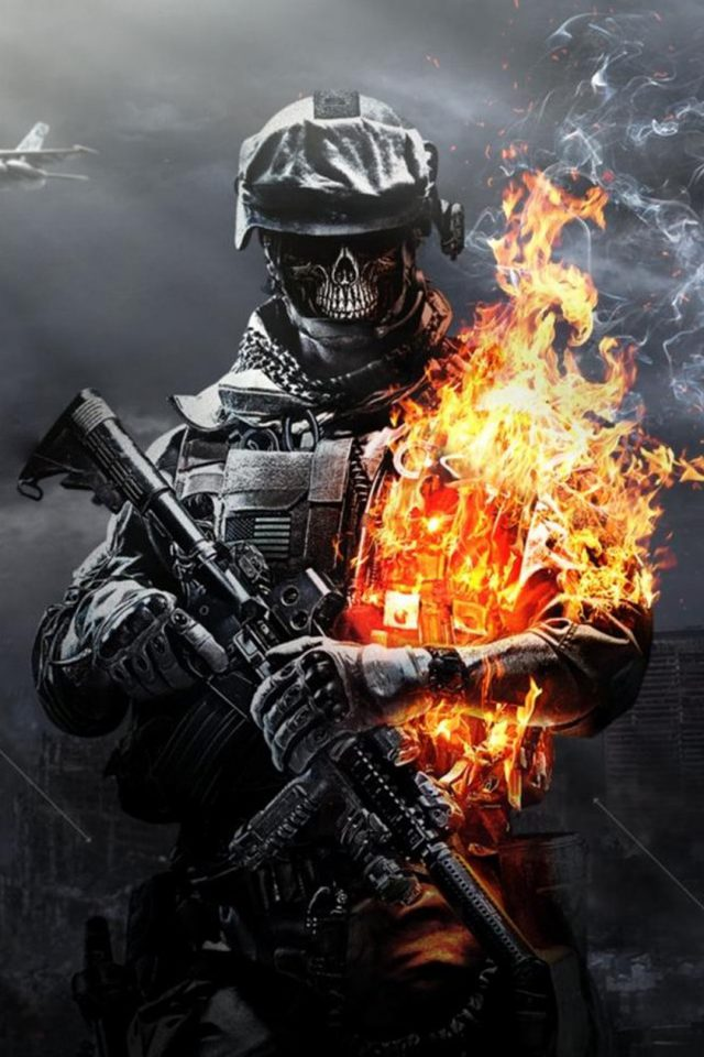 Call of Duty Ghosts Skull Android wallpaper