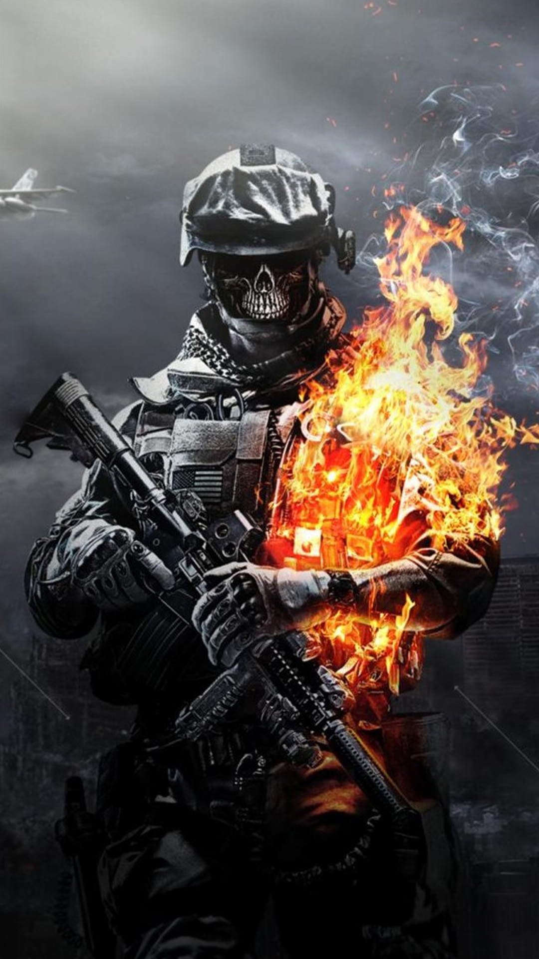 Call Of Duty Ghosts Skull Android Wallpaper Android Hd