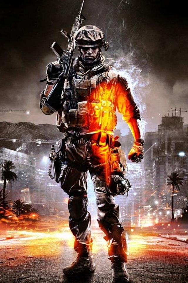 Call of Duty Ghosts Orange Soldier Android wallpaper