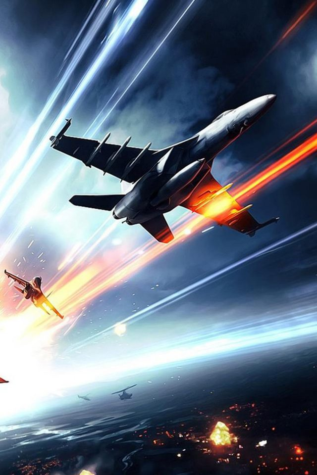 Battlefield Planes Fire Android wallpaper