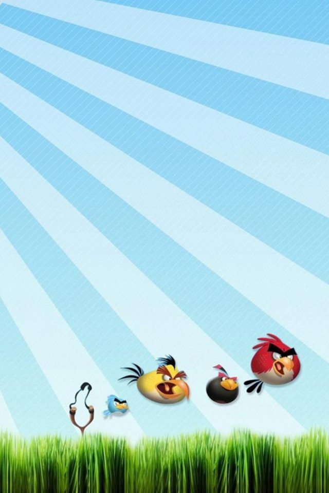 Angry Birds 3D Grass Android wallpaper