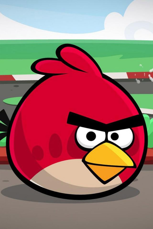 Angry Bird Red Art Android wallpaper
