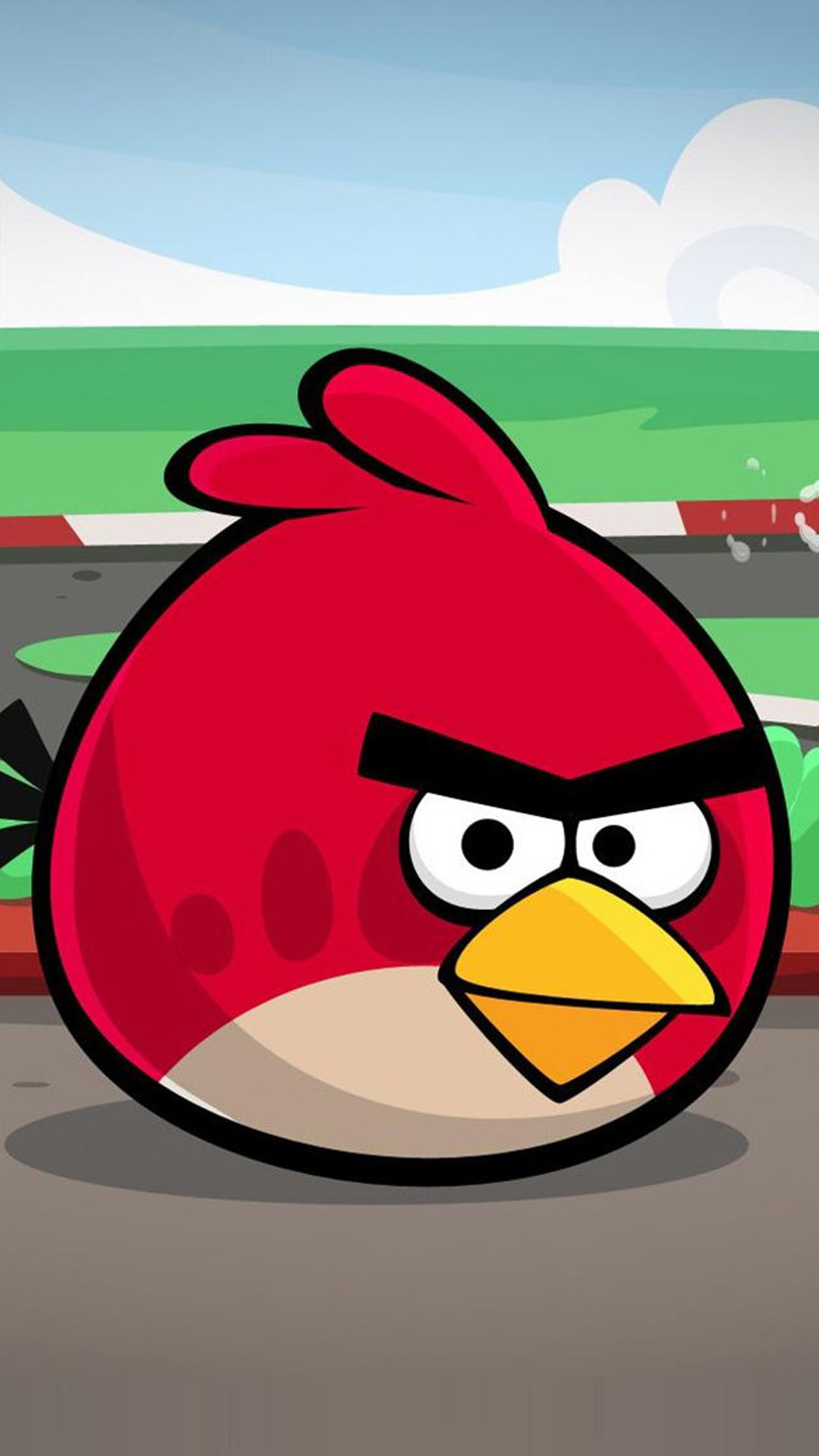 Angry Bird Red Art Android Wallpaper Android Hd Wallpapers