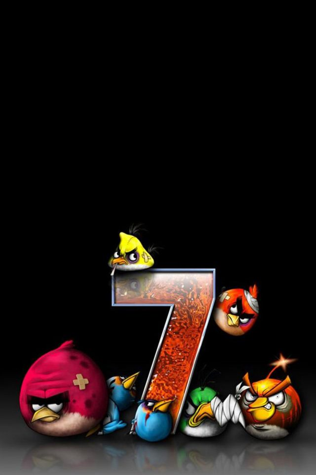 Angry Birds 7 Funny Android wallpaper