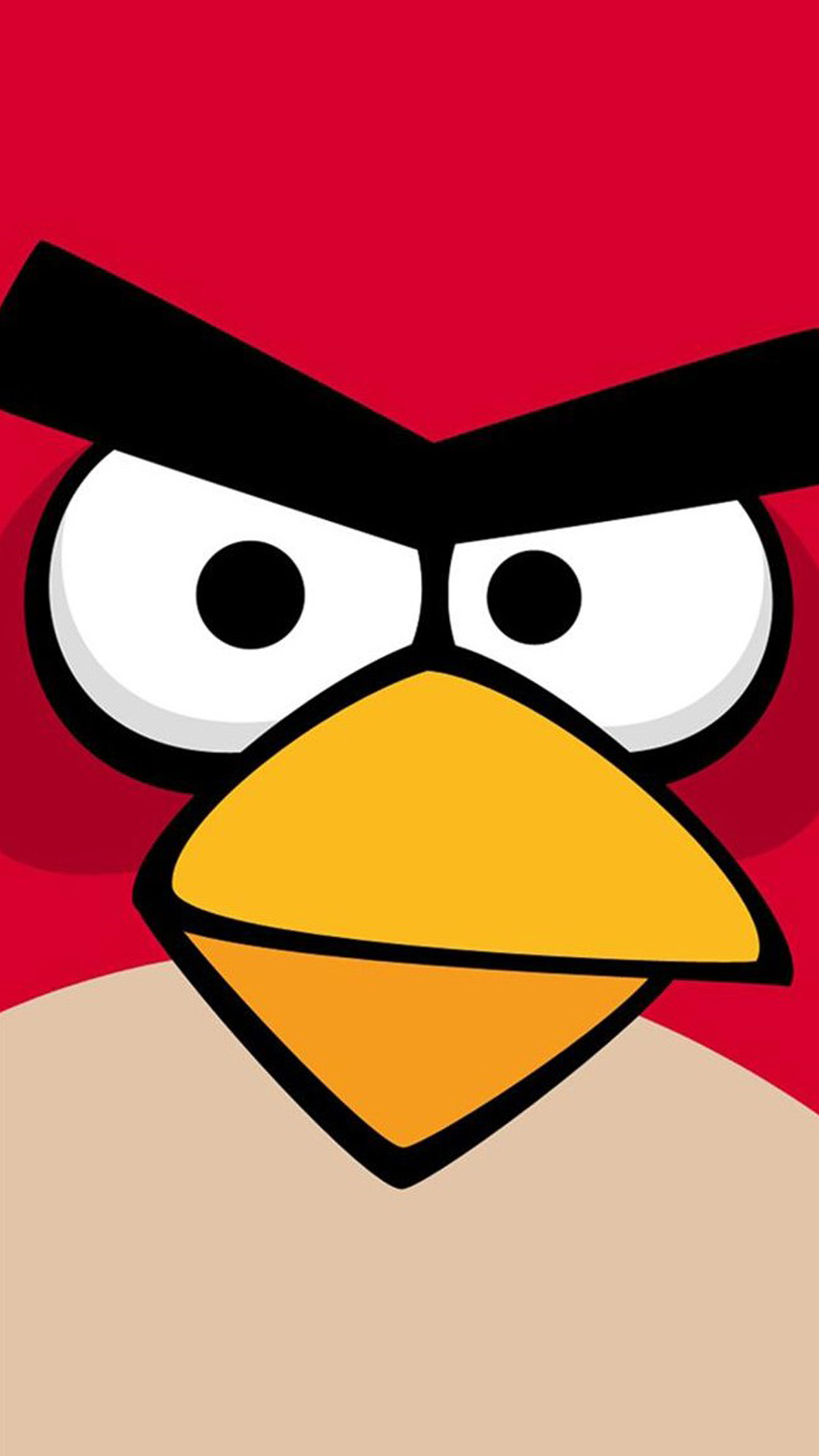 Angry Bird Closeup Red Android wallpaper
