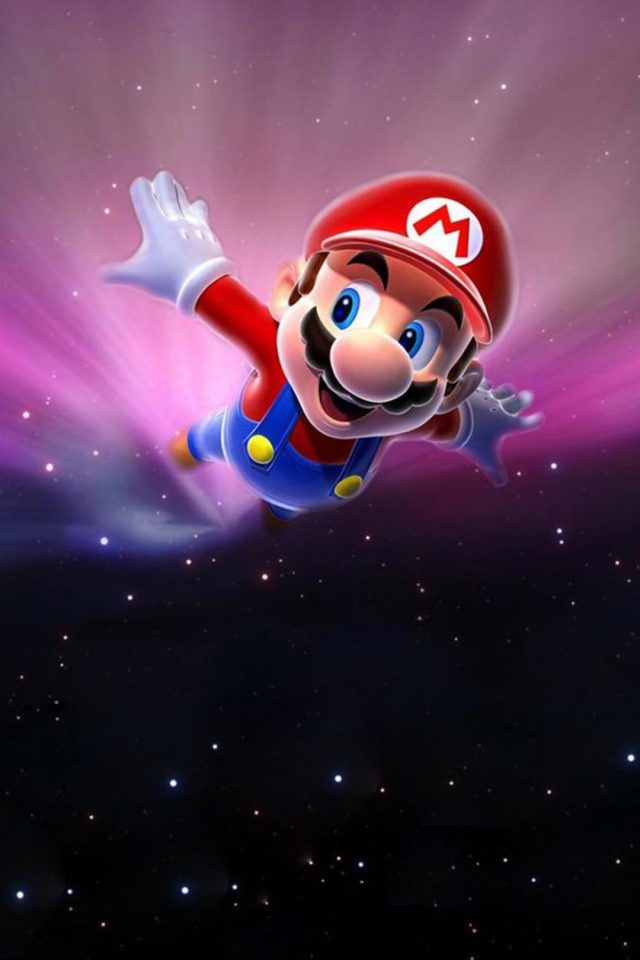 Super Mario Space Android wallpaper